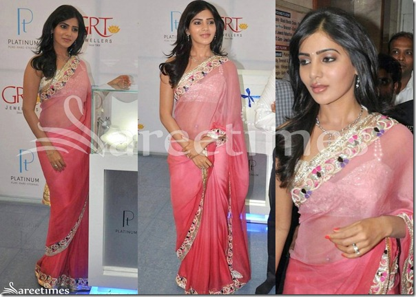 Samantha_Pink_Georgette_Saree