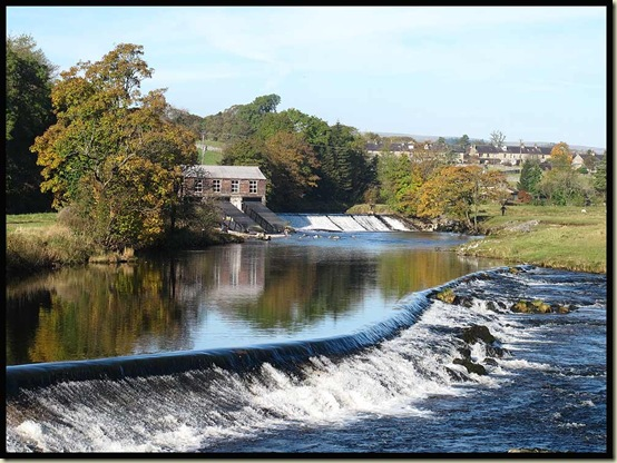 Weirs on the Wharfe at Grassington