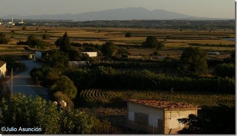 Vistas desde el mirador del Moncayo - Cadreita - Navarra