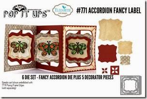 Accordion Card Fancy Label