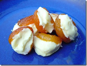 Yogurt and White Chocolate Filled Apricots