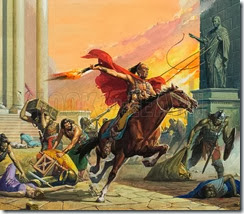 Barbarians at the Gate.  The civilised world was horrified when it heard that Rome had been overrun by German tribesmen and sacked.  But the barbarians did not stay for long.