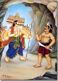 Ravana talking to Maricha