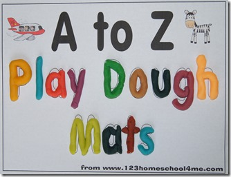 Playdough Mats: learning letters A to Z