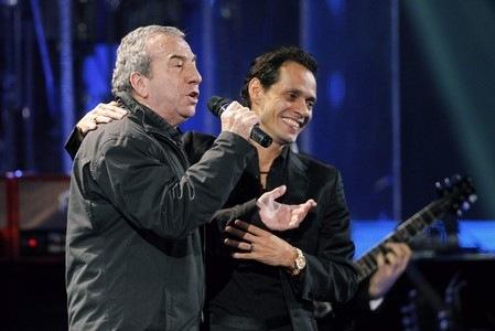 José Luis Perales y Marc Anthony en el Festival de Viña del Mar