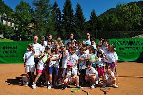 Foto di Gruppo con i maestri Estatennis 2011