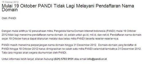 pandi stop daftar domain