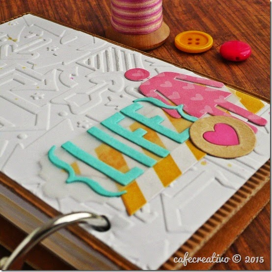 cafecreativo - big shot sizzix - scrapbooking - mini album - planner