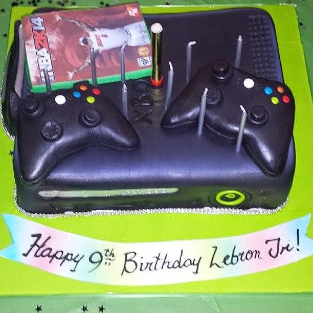 Nike LeBron 12 GS 8220Gamer8221 Inspired By Bronnie8217s Xbox One Cake