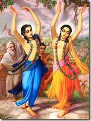 Shri Shri Nimai Nitai chanting and dancing