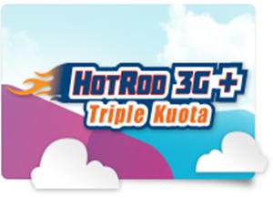 Paket Internet HotRod 3G+ Triple Kuota XL