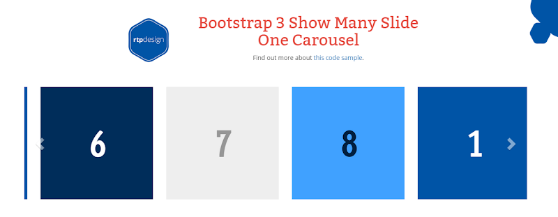 Bootstrap3-ShowManySlideOneCarousel