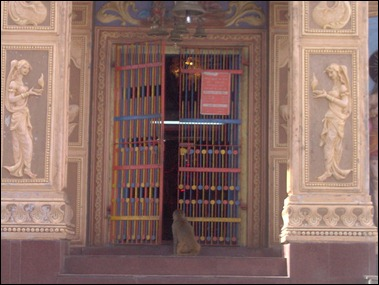 Monkey at the Doors of the Temple