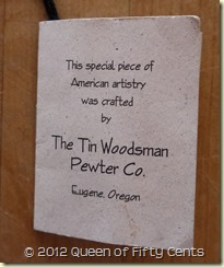 Tin Woodsman tag
