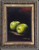 Green apples Framed