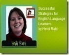 Successful Strategies for English Language Learners by Heidi Raki of Raki's Rad Resources