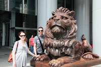 Famous Lion out the front of HSBC