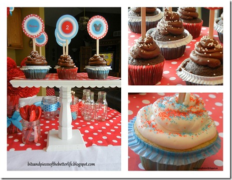 2 Birthday Cupcake Collage