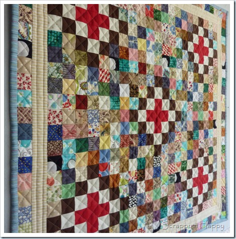 Scrap challenge quilt quilting texture