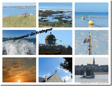 Carte postale de Bretagne compressée