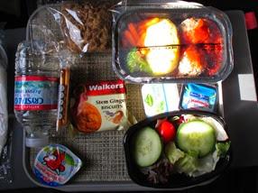 almuerzo del Boeing 767-300 de American Airlines
