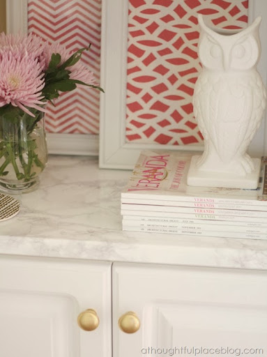 We Also Put This Marble Paper On A Shelf In Another Built In In Our Master  Bedroom And Are Loving It. While Nothing Takes The Place Of Real ...