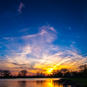 sunset in Naperville il by MIGUEL CORREA - Landscapes Sunsets & Sunrises