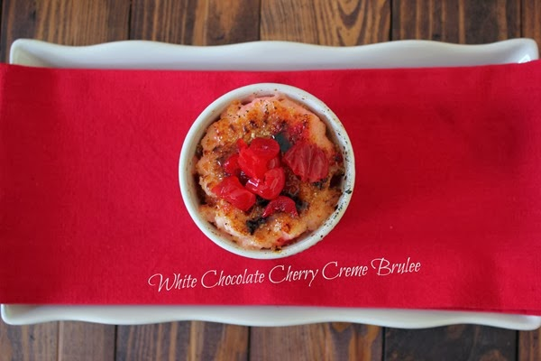 Easy White Chocolate Cherry Creme Brulee Recipe