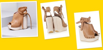 View Chloe camel wedges