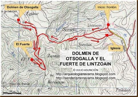 Mapa Dolmen de Otsogalla y El Fuerte