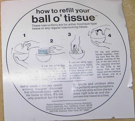 Ball O'Tissue instructions
