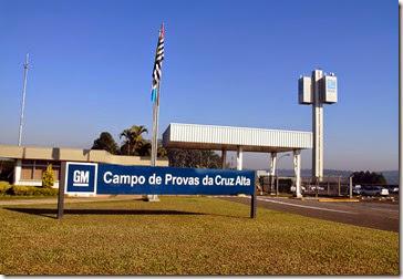 Vista da fachada atual do CPCA, o maior campo de provas do hemisfério Sul
