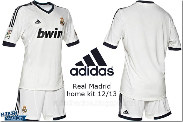uniforme real madrid home kit 12-13