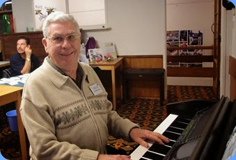 Jim Nicholson very kindly stepped into the breach following a late player pull-out due to indisposition. Jim played the Club's Yamaha Clavinova CVP-509. Photo courtesy of Dennis Lyons.