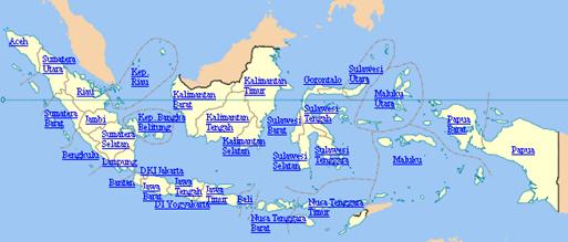 peta propinsi indonesia