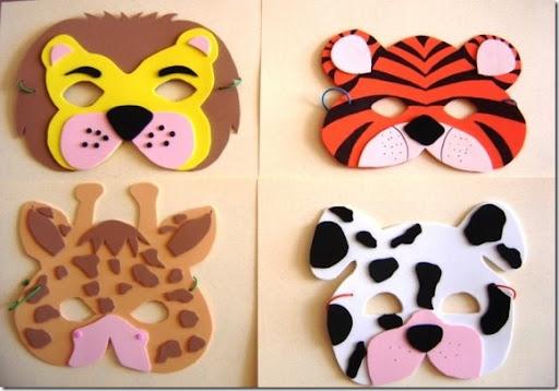 Caras de animales en foami - Imagui