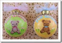 SweetPea & Pumpkin Bear Ornaments