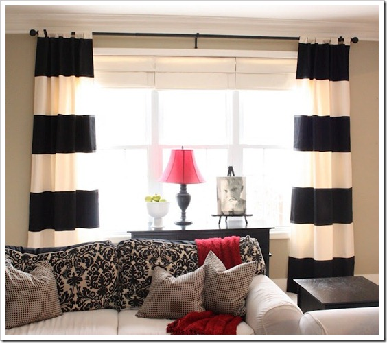 BW Striped curtain