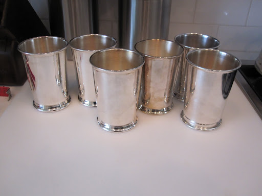 Julep cups will be used to place the flowers in once they are cut.