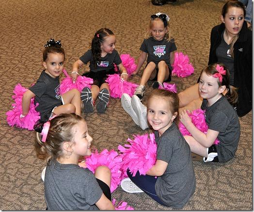 Hannah's First Cheerleading Game 018