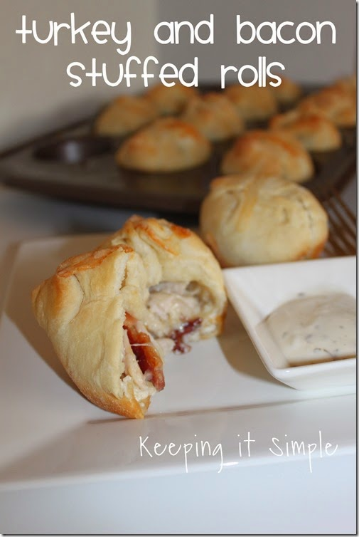 #ad Turkey-and-bacon-stuffed-rolls #TasteTheSeason