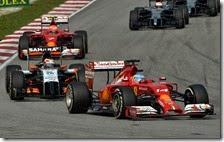 Alonso davanti a Hulkenberg e Raikkonen nel gran premio della Malesia 2014