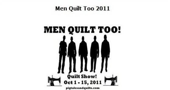 Men quilt too