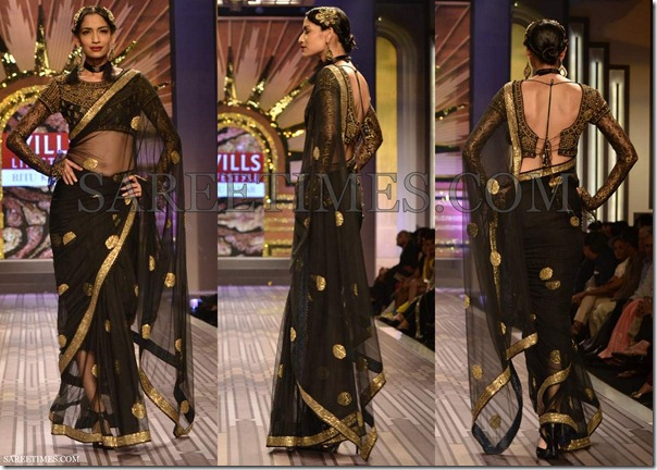 Ritu_Kumar_Black_Saree