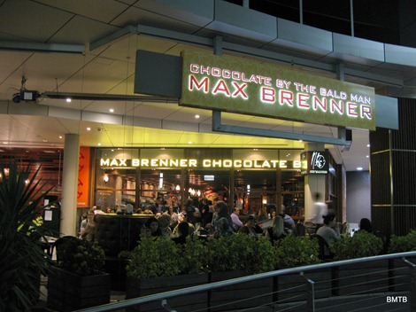 Max Brenner outside