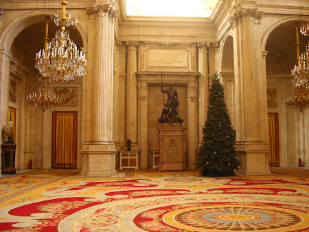 Obiective turistice Madrid: interior Palatul Regal