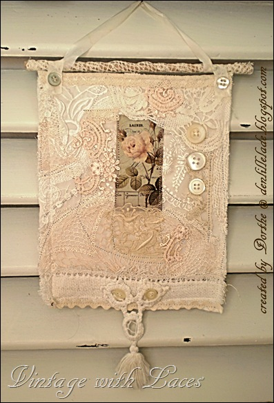 Fabric Collage by Den Lille Lade