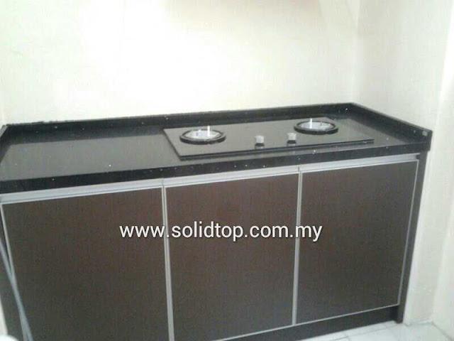 Solid top sdn bhd refurnish kitchen cabinet table top for Table top kitchen cabinet