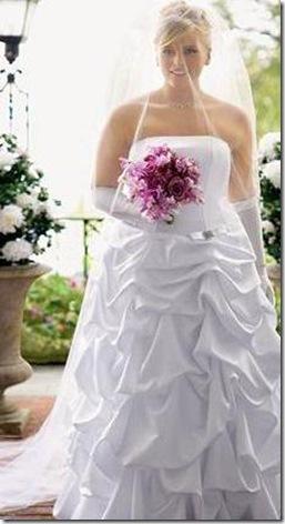 vestido hermosos de novia gordita joven 2012