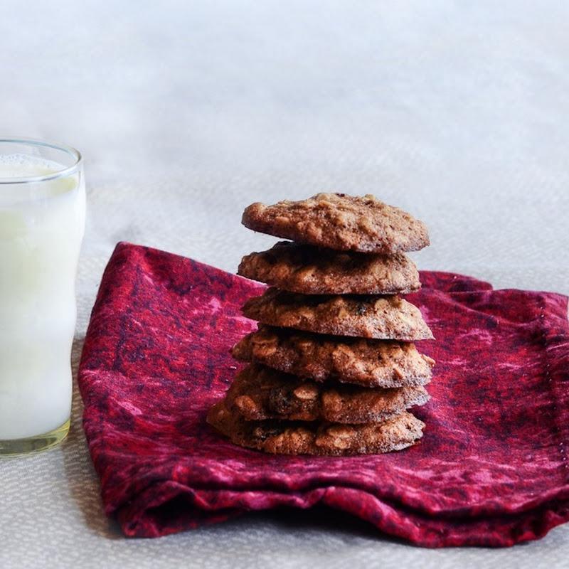 Oatmeal cookies, two kinds